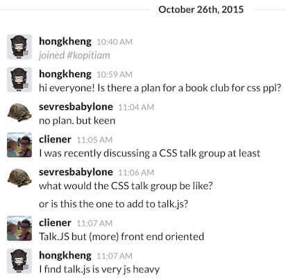 Original slack chat