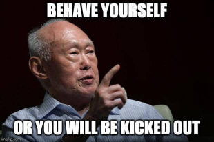 Ah Gong says behave yourself
