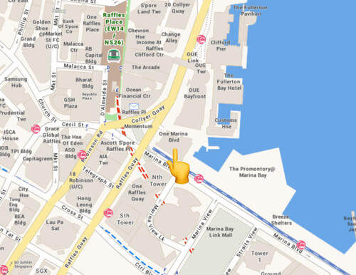 Map to Microsoft Singapore