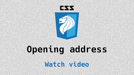 Link to opening address video