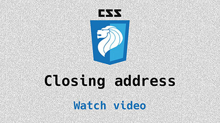 Link to closing address video