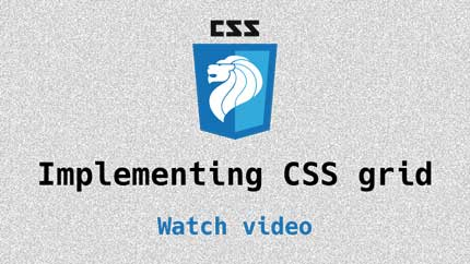 Link to implementing CSS grid video