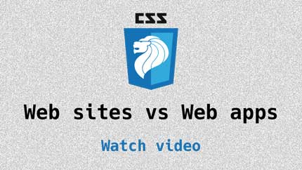 Link to Websites vs Web apps video