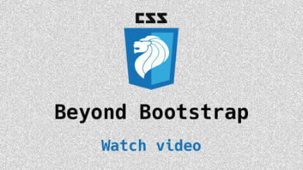 Link to Beyond Bootstrap video