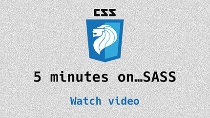 Link to Intro to SASS video
