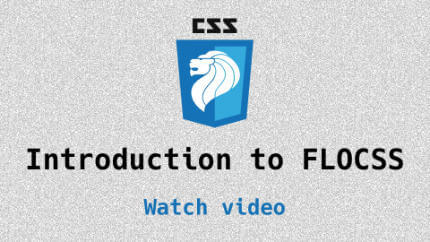 Link to Introduction to FLOCSS video