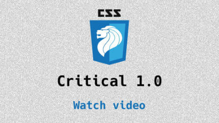Link to Critical 1.0 video