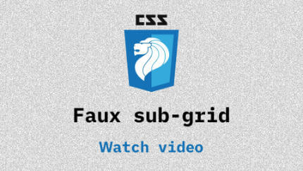 Link to Faux sub-grid video