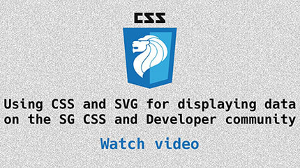 Link to Data Visualisation with CSS and SVG video