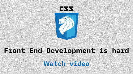 Link to Frontend development is hard video