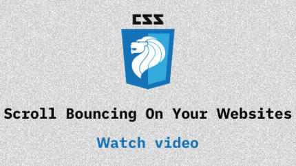 Link to Scroll Bouncing On Your Websites video
