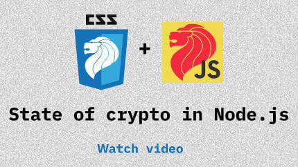 Link to State of crypto in Node.js video