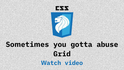 Link to Sometimes you gotta abuse Grid video