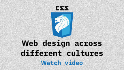 Link to Web design across different cultures video