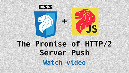 Link to HTTP/2 server push video