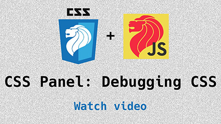 Link to panel discussion on debugging CSS video